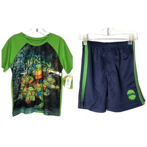 TMNT Classic 2 piece Short Sleeves Tee Shorts 4T